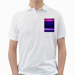 Space Planet Pink Blue Purple Golf Shirts by Alisyart