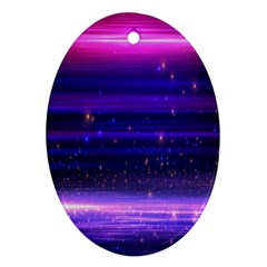 Space Planet Pink Blue Purple Oval Ornament (two Sides) by Alisyart