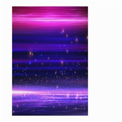 Space Planet Pink Blue Purple Small Garden Flag (two Sides) by Alisyart