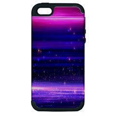 Space Planet Pink Blue Purple Apple Iphone 5 Hardshell Case (pc+silicone) by Alisyart