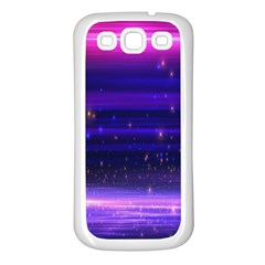 Space Planet Pink Blue Purple Samsung Galaxy S3 Back Case (white) by Alisyart