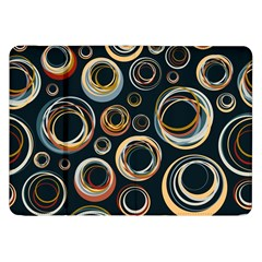 Seamless Cubes Texture Circle Black Orange Red Color Rainbow Samsung Galaxy Tab 8 9  P7300 Flip Case by Alisyart