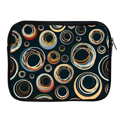 Seamless Cubes Texture Circle Black Orange Red Color Rainbow Apple Ipad 2/3/4 Zipper Cases by Alisyart