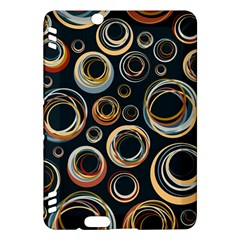 Seamless Cubes Texture Circle Black Orange Red Color Rainbow Kindle Fire Hdx Hardshell Case by Alisyart