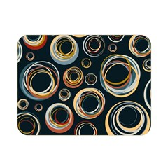 Seamless Cubes Texture Circle Black Orange Red Color Rainbow Double Sided Flano Blanket (mini)  by Alisyart