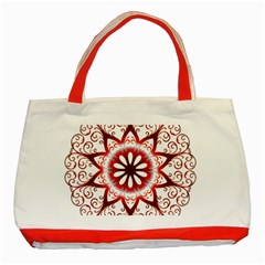 Prismatic Flower Floral Star Gold Red Orange Classic Tote Bag (red) by Alisyart