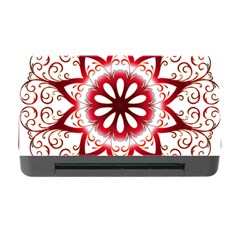 Prismatic Flower Floral Star Gold Red Orange Memory Card Reader With Cf by Alisyart