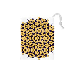 Star Orange Blue Drawstring Pouches (small)  by Alisyart