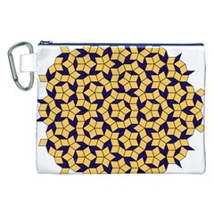 Star Orange Blue Canvas Cosmetic Bag (xxl) by Alisyart