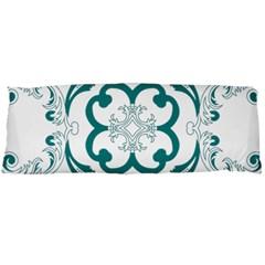 Vintage Floral Star Flower Blue Body Pillow Case Dakimakura (two Sides) by Alisyart