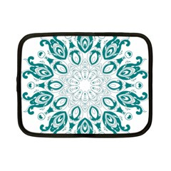 Vintage Floral Star Blue Green Netbook Case (small)  by Alisyart