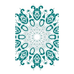 Vintage Floral Star Blue Green Shower Curtain 48  X 72  (small)  by Alisyart
