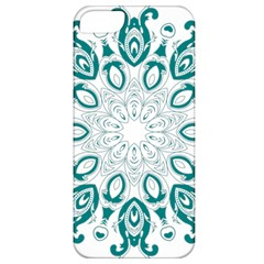 Vintage Floral Star Blue Green Apple iPhone 5 Classic Hardshell Case