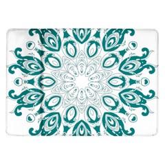 Vintage Floral Star Blue Green Samsung Galaxy Tab 10 1  P7500 Flip Case by Alisyart