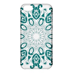 Vintage Floral Star Blue Green Apple Iphone 5c Hardshell Case by Alisyart