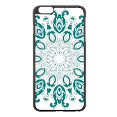 Vintage Floral Star Blue Green Apple Iphone 6 Plus/6s Plus Black Enamel Case by Alisyart