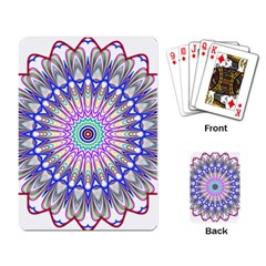 Prismatic Line Star Flower Rainbow Playing Card by Alisyart