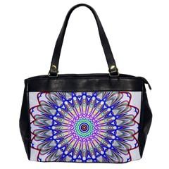 Prismatic Line Star Flower Rainbow Office Handbags by Alisyart