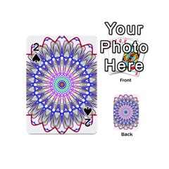 Prismatic Line Star Flower Rainbow Playing Cards 54 (mini)  by Alisyart