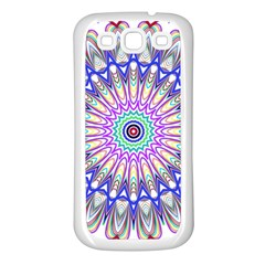 Prismatic Line Star Flower Rainbow Samsung Galaxy S3 Back Case (white) by Alisyart
