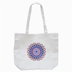 Prismatic Line Star Flower Rainbow Tote Bag (white) by Alisyart