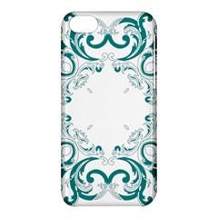 Vintage Floral Style Frame Apple Iphone 5c Hardshell Case by Alisyart