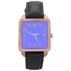 Ripples Blue Space Rose Gold Leather Watch  by Alisyart