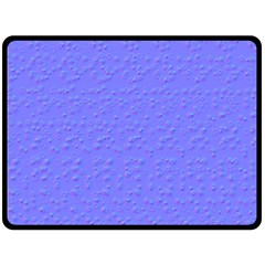 Ripples Blue Space Double Sided Fleece Blanket (large)  by Alisyart