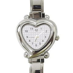 Violence Head On King Purple White Flower Heart Italian Charm Watch by Alisyart