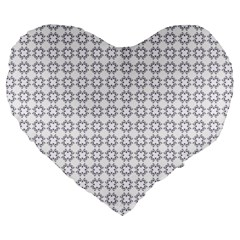 Violence Head On King Purple White Flower Large 19  Premium Heart Shape Cushions by Alisyart