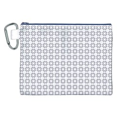 Violence Head On King Purple White Flower Canvas Cosmetic Bag (xxl) by Alisyart