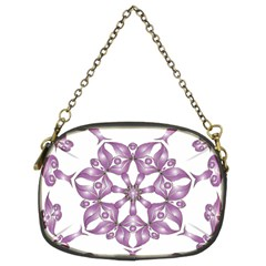 Frame Flower Star Purple Chain Purses (two Sides)  by Alisyart