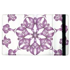 Frame Flower Star Purple Apple Ipad 3/4 Flip Case by Alisyart