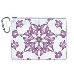 Frame Flower Star Purple Canvas Cosmetic Bag (xl) by Alisyart