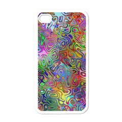 Glass Rainbow Color Apple Iphone 4 Case (white) by Alisyart