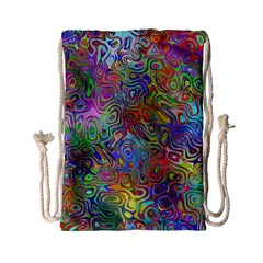Glass Rainbow Color Drawstring Bag (small) by Alisyart