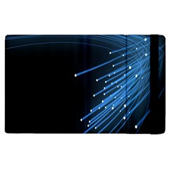 Abstract Light Rays Stripes Lines Black Blue Apple Ipad 3/4 Flip Case by Alisyart