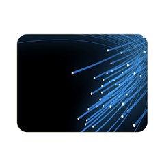 Abstract Light Rays Stripes Lines Black Blue Double Sided Flano Blanket (mini)  by Alisyart