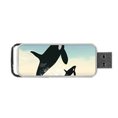 Whale Mum Baby Jump Portable Usb Flash (two Sides) by Alisyart
