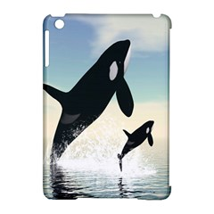 Whale Mum Baby Jump Apple Ipad Mini Hardshell Case (compatible With Smart Cover) by Alisyart