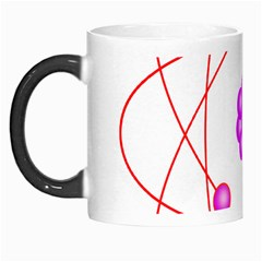 Atom Physical Chemistry Line Red Purple Space Morph Mugs by Alisyart