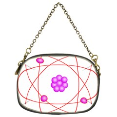 Atom Physical Chemistry Line Red Purple Space Chain Purses (one Side)  by Alisyart