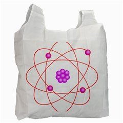 Atom Physical Chemistry Line Red Purple Space Recycle Bag (one Side) by Alisyart