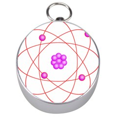 Atom Physical Chemistry Line Red Purple Space Silver Compasses by Alisyart