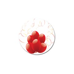 Balloon Partty Red Golf Ball Marker (10 Pack) by Alisyart
