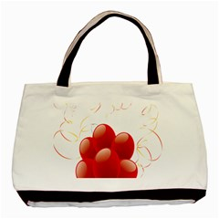 Balloon Partty Red Basic Tote Bag (two Sides) by Alisyart