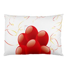 Balloon Partty Red Pillow Case (two Sides) by Alisyart