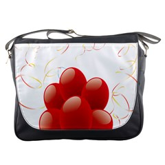 Balloon Partty Red Messenger Bags by Alisyart