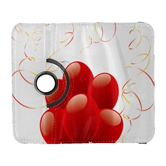 Balloon Partty Red Galaxy S3 (flip/folio) by Alisyart