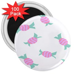 Candy Pink Blue Sweet 3  Magnets (100 Pack) by Alisyart